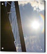 Cooper River Bridge Lens Flair Acrylic Print