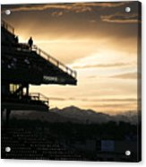 Coors Field At Sunset Acrylic Print