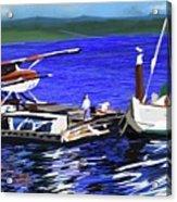 Coos Bay Dockside  Acrylic Print