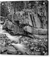 Coos Canyon Black And White Acrylic Print