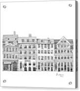 Copenhagen City Scene Acrylic Print