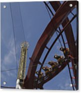 Copenhagen, Denmark, Rollercoaster Ride Acrylic Print