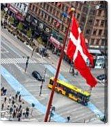 Copenhagen Downtown Traffic Acrylic Print