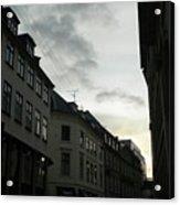 Copenhagen Facades In Shades Of Grey Acrylic Print