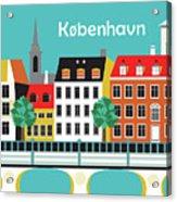 Copenhagen Kobenhavn Denmark Horizontal Scene Acrylic Print