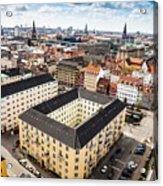 Copenhagen Skyline And Towers Acrylic Print