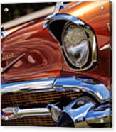 Copper 1957 Chevy Bel Air Acrylic Print