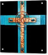 Copper And Stone Cross Acrylic Print