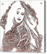 Copper Blonde Acrylic Print