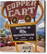 Copper Cart Acrylic Print