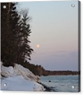 Copper Country Moonset Portrait Acrylic Print
