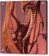 Copper Dragon Acrylic Print