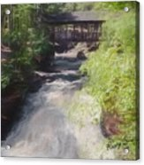 Copper Falls State Park Wisconsin. Acrylic Print