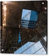 Copper Glass And Steel Geometry - Fabulous Modern Architecture In London U K Acrylic Print