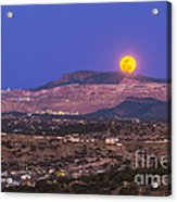 Copper Moon Rising Over The Santa Rita Acrylic Print