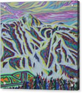 Copper Mountain Acrylic Print