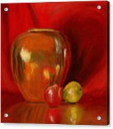 Copper Pot And Fruit Acrylic Print