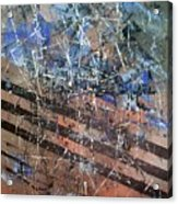 Copper To Blue Abstract Acrylic Print