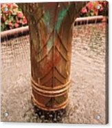 Copper Water Fountain Acrylic Print