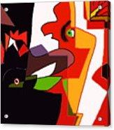 Coq Chante  Poule En Ombre Acrylic Print