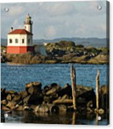 Coquille River Lighthouse Bandon Oregon Acrylic Print
