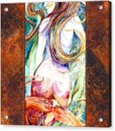 Coral Mermaid Acrylic Print