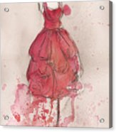 Coral Pink Party Dress Acrylic Print