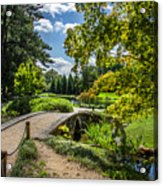 Corbel Arch Bridge Japanese Garden Maymont Acrylic Print