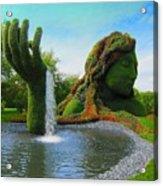 Corey Rockafeler - Mother Nature Fountain Acrylic Print