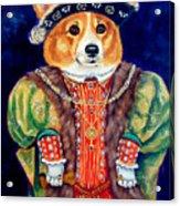 Corgi King Acrylic Print