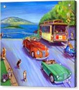Corgi Trolley On Hyde Street Acrylic Print
