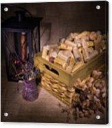 Cork Basket Candle Lamp Acrylic Print