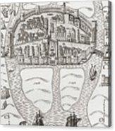 Cork, County Cork, Ireland In 1633 Acrylic Print