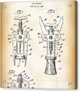Cork Extractor Patent  1930 Acrylic Print