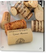 Corks Acrylic Print by Cheryl Young