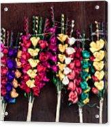 Corn Husk Flowers Acrylic Print