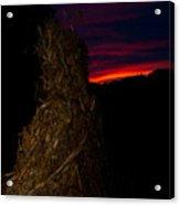 Corn Shock At Twilight Acrylic Print