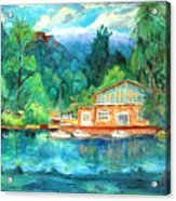 Cornell Boathouse Acrylic Print