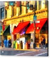 Corner Of Center And Merchant Rutland Vt Acrylic Print