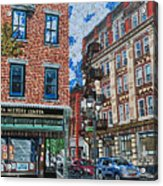 Corner Of Dietz And Main Oneonta Ny Acrylic Print