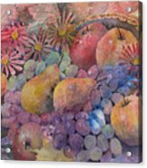 Cornucopia Of Fruit Acrylic Print by Arline Wagner
