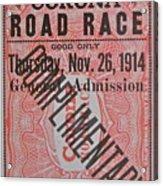 Corona Road Race 1914 Acrylic Print