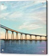 Coronado Bridge Sunset A Acrylic Print