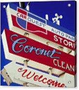Coronet Cleaners Acrylic Print