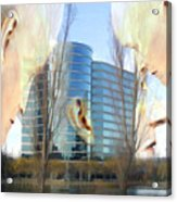 Corporate Cloning Acrylic Print by Kurt Van Wagner