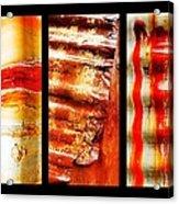 Corrugated Iron Triptych #4 Acrylic Print