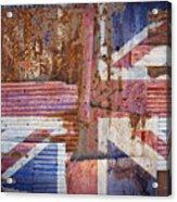 Corrugated Iron United Kingdom Flag Acrylic Print
