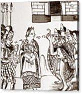 Cortes & Montezuma, 1519 Acrylic Print