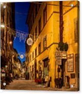 Cortona Via Nazionale Acrylic Print
