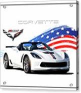 Corvette America Acrylic Print